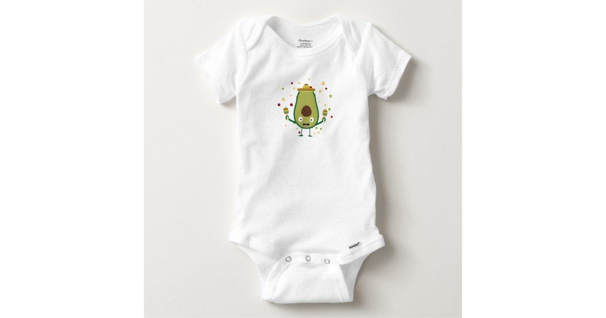c3c22b90f Fiesta Party Mexico Avocado Baby Onesie | Zazzle.com