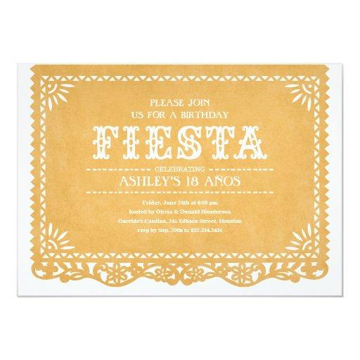 Fiesta Party Papel Picado Invitations