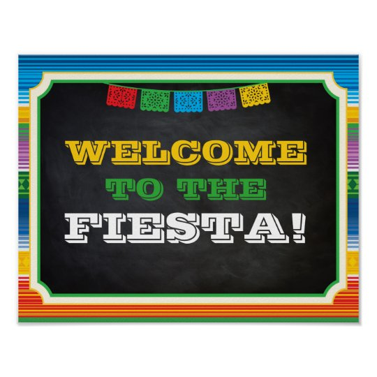 fiesta party sign welcome sign mexican party poster zazzle com