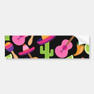 Fiesta Party Sombrero Cactus Limes Peppers Maracas Bumper Sticker
