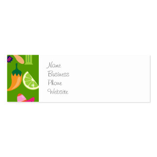 Fiesta Party Sombrero Cactus Limes Peppers Maracas Double-Sided Mini Business Cards (Pack Of 20)