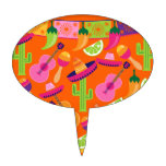 Fiesta Party Sombrero Cactus Limes Peppers Maracas Cake Picks