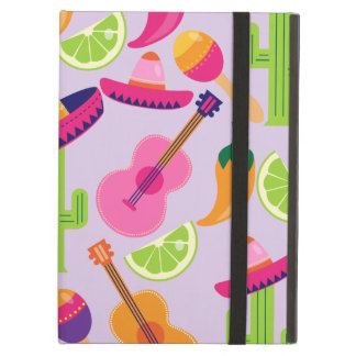 Fiesta Party Sombrero Cactus Limes Peppers Maracas Case For iPad Air