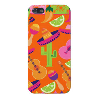 Fiesta Party Sombrero Cactus Limes Peppers Maracas Cover For iPhone SE/5/5s