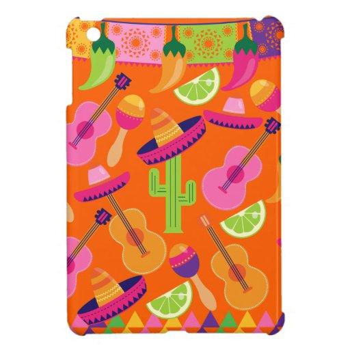 Fiesta Party Sombrero Cactus Limes Peppers Maracas iPad Mini Case