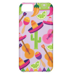Fiesta Party Sombrero Cactus Limes Peppers Maracas iPhone 5C Cover