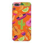 Fiesta Party Sombrero Cactus Limes Peppers Maracas iPhone 5 Cases
