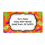 Fiesta Party Sombrero Cactus Limes Peppers Maracas Custom Shipping Labels