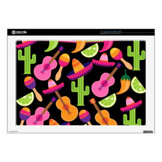 Fiesta Party Sombrero Cactus Limes Peppers Maracas Laptop Skin