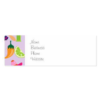 Fiesta Party Sombrero Cactus Limes Peppers Maracas Mini Business Card
