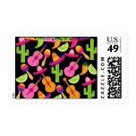 Fiesta Party Sombrero Cactus Limes Peppers Maracas Postage Stamps