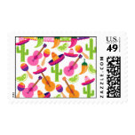 Fiesta Party Sombrero Cactus Limes Peppers Maracas Postage at Zazzle