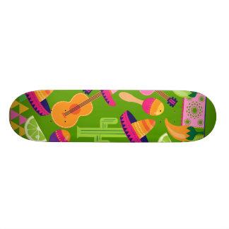 Fiesta Party Sombrero Cactus Limes Peppers Maracas Skateboard