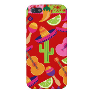 Fiesta Party Sombrero Limes Guitar Maraca Saguaro Case For iPhone 5/5S