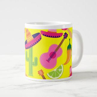 Fiesta Party Sombrero Limes Guitar Maraca Saguaro Giant Coffee Mug