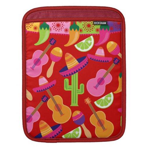 Fiesta Party Sombrero Limes Guitar Maraca Saguaro iPad Sleeves