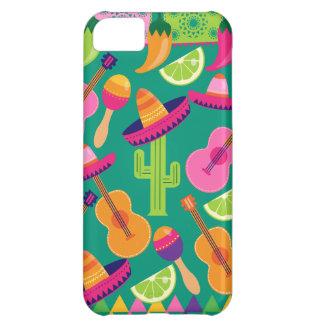 Fiesta Party Sombrero Limes Guitar Maraca Saguaro iPhone 5C Cover