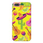 Fiesta Party Sombrero Limes Guitar Maraca Saguaro Cover For iPhone 5