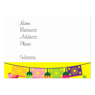 Fiesta Party Sombrero Limes Guitar Maraca Saguaro Large Business Card