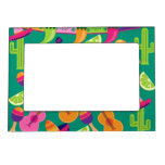 Fiesta Party Sombrero Limes Guitar Maraca Saguaro Magnetic Photo Frame