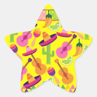 Fiesta Party Sombrero Limes Guitar Maraca Saguaro Star Stickers