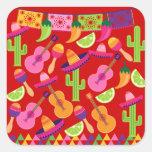 Fiesta Party Sombrero Limes Guitar Maraca Saguaro Stickers
