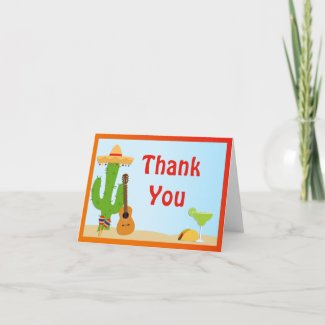 Fiesta Party Thank You Card