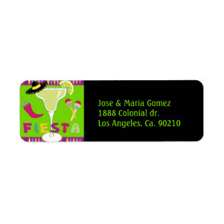 Fiesta Party Time Return Address Label