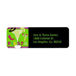 Fiesta Party Time Return Address Label