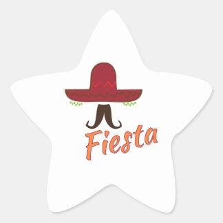 Fiesta Pegatina En Forma De Estrella