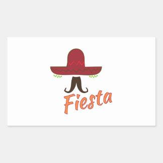 Fiesta Pegatina Rectangular