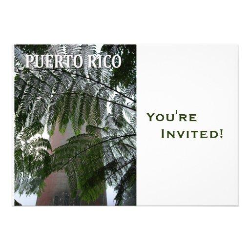 Fiesta personalizado del buen viaje de Puerto Rico Invitación