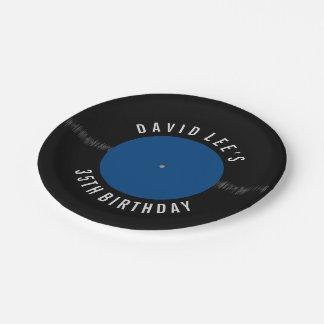 Fiesta personalizado disco de vinilo retro del platos de papel