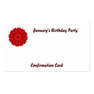 Fiesta-Personalizar de Bithday de enero Tarjetas De Visita