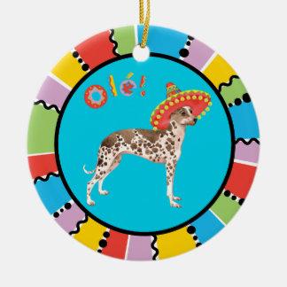 Fiesta Peruvian Inca Orchid Ceramic Ornament