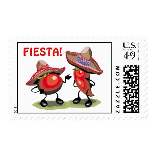 ¡Fiesta! Pimientas Sellos Postales