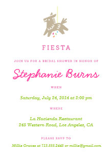 fiesta piata fun bridal shower invitations