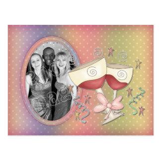 Fiesta - plantilla de la Feliz Año Nuevo Tarjetas Postales