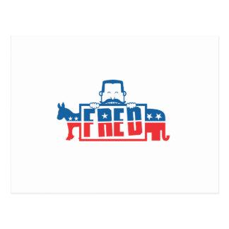 Fiesta político de Fred Tarjetas Postales
