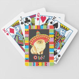 Fiesta Pomeranian Bicycle Playing Cards