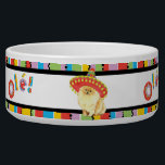 """Fiesta Pomeranian Bowl<br><div class=""""desc"""">Hola! Time for fun and celebration! Sing and play with your favorite fiesta-loving dog. Celebrate Cinco de Mayo or any other fiesta time with your cute sombrero-wearing Pomeranian!</div>"""