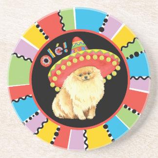 Fiesta Pomeranian Drink Coaster