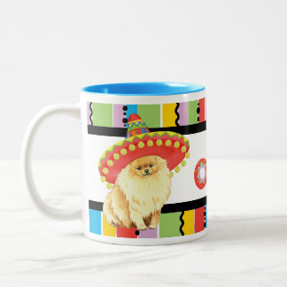 Fiesta Pomeranian Two-Tone Coffee Mug