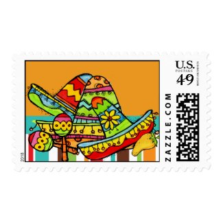 Fiesta Postage Stamps
