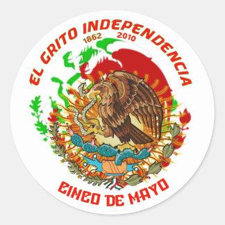 Fiesta-Product-Match-Cinco-de-Mayo-Set-1 Pegatina Redonda