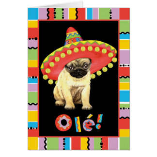 Fiesta Pug Card