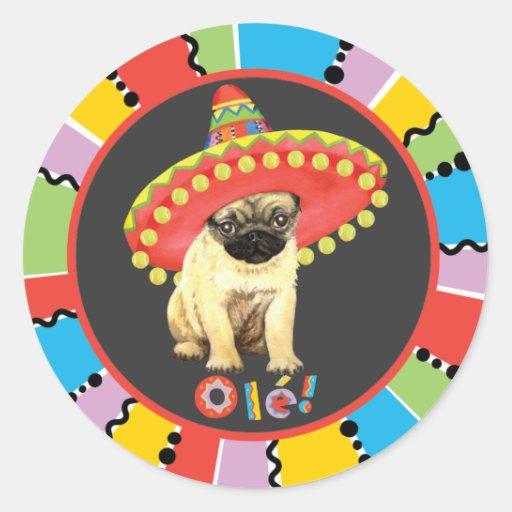 Fiesta Pug Stickers