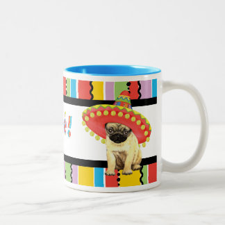 Fiesta Pug Two-Tone Coffee Mug