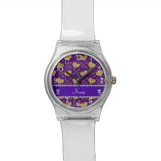 Fiesta púrpura conocido del bachelorette de los reloj
