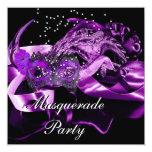 Fiesta púrpura de la bola de mascarada de las comunicados